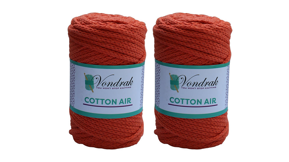 Cotton Air ORANGE (2 skeins)