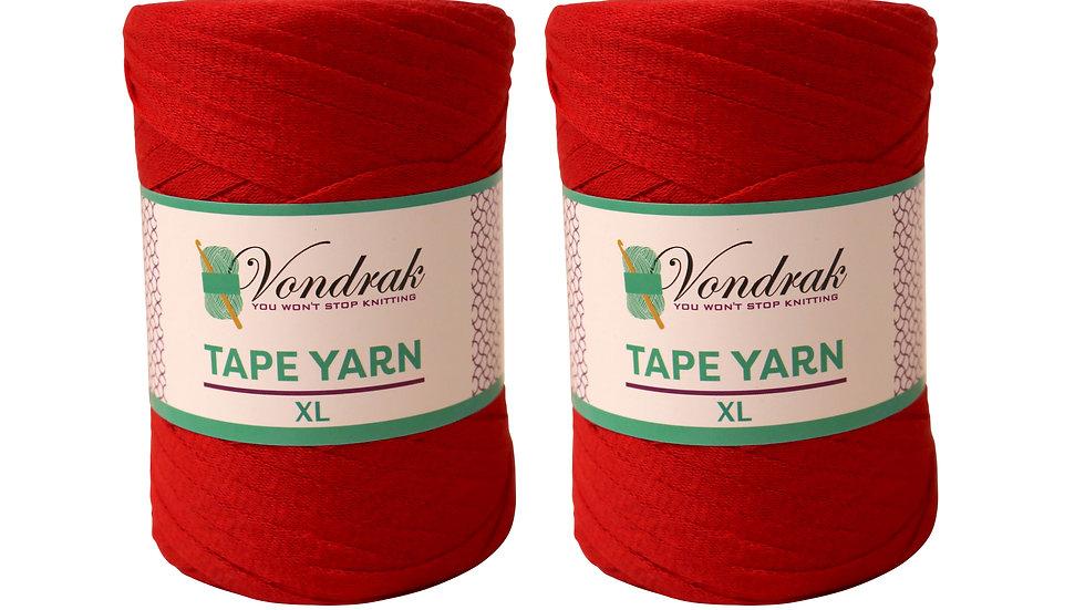 Tape Yarn 328 yards Cotton (2 Rolls) RED