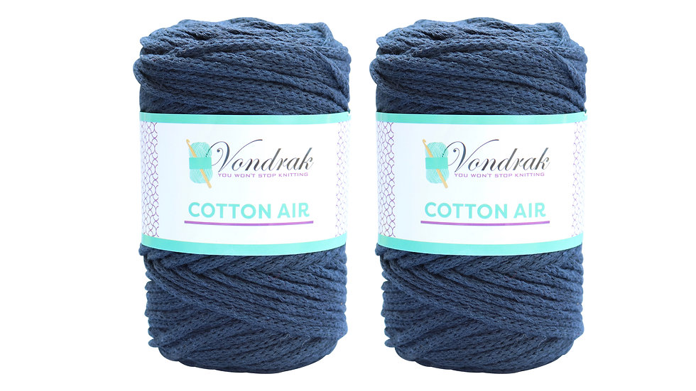 Cotton Air NAVY (2 skeins)