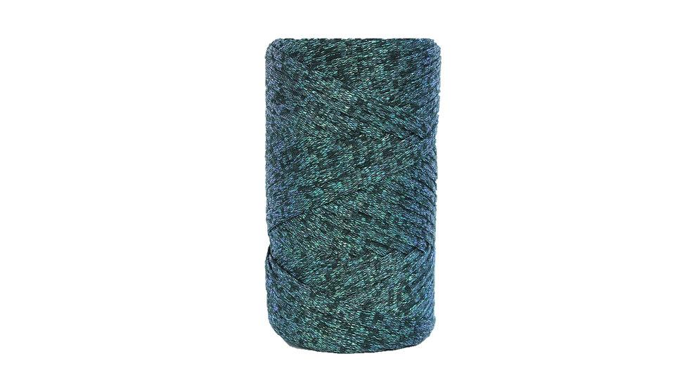Sparkly Tape Yarn 130 yards Black-Tornasol