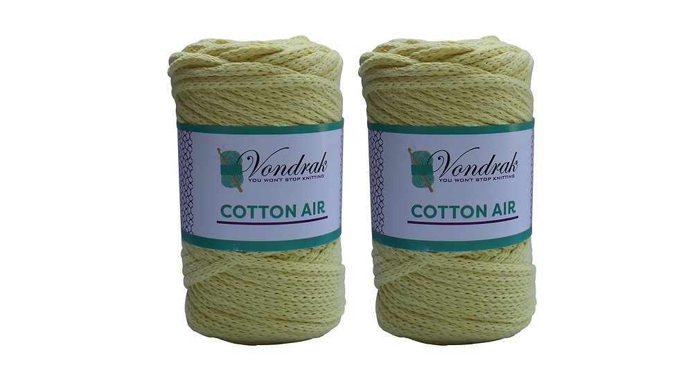 Cotton Air YELLOW (2 skeins)