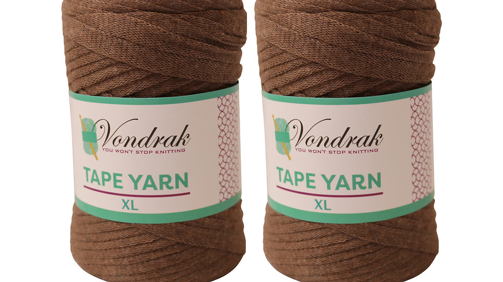 Tape Yarn 328 yards Cotton (2 Rolls) BONE BROWN