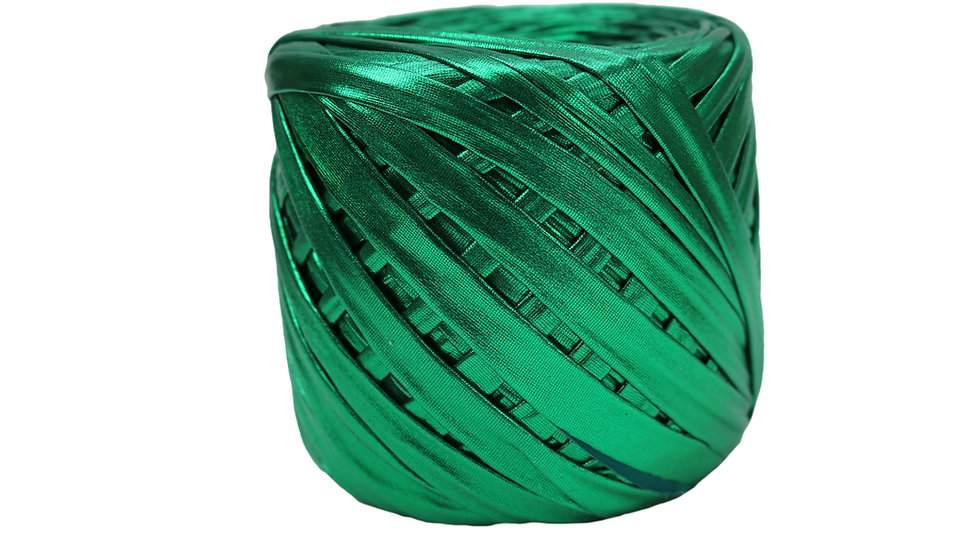 Metallic Yarn 55 yards GREEN