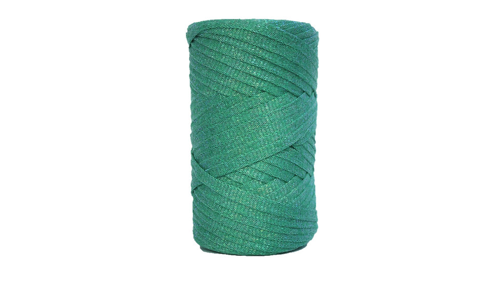 Sparkly Tape Yarn 130 yards Green