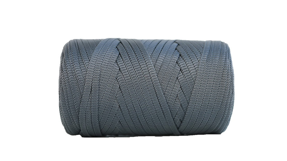 Glossy Tape Yarn CHARCOAL