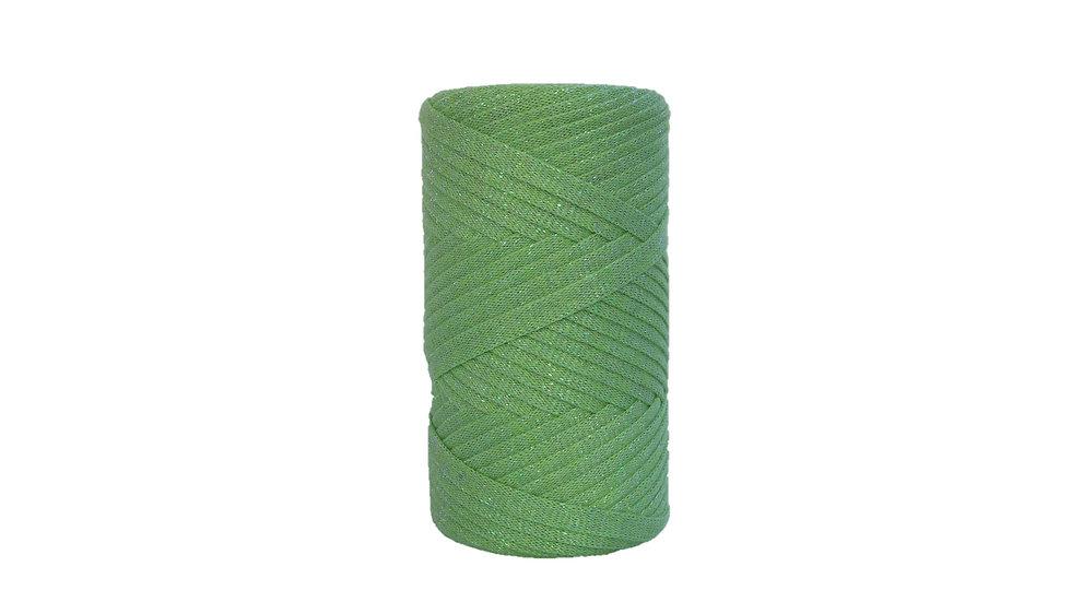Sparkly Tape Yarn 130 yards Apple Green