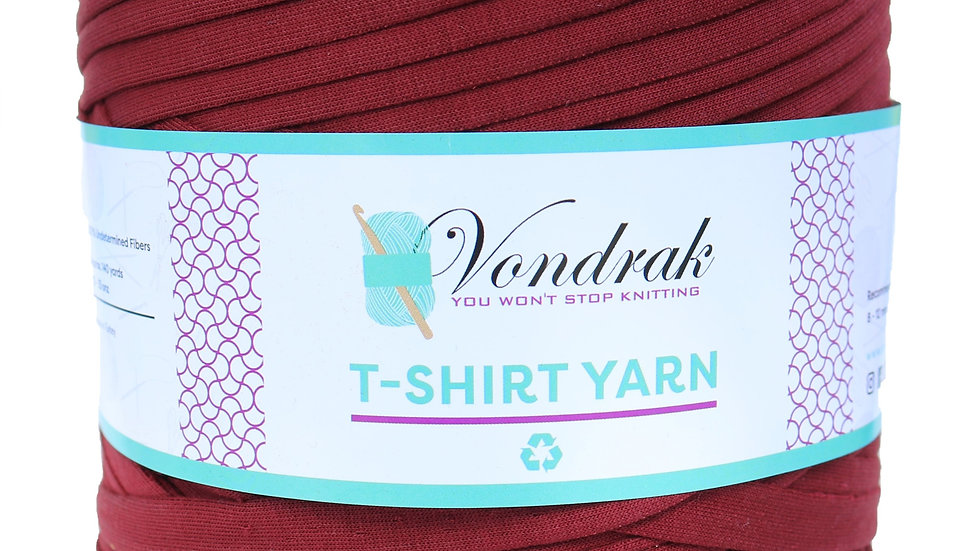 T-Shirt Yarn Burgundy