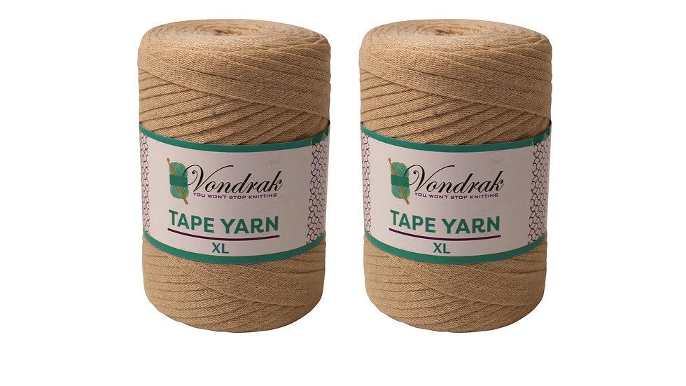 Tape Yarn 328 yards Cotton (2 Rolls) BEIGE