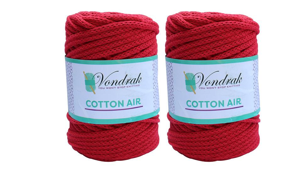 Cotton Air RED (2 skeins)