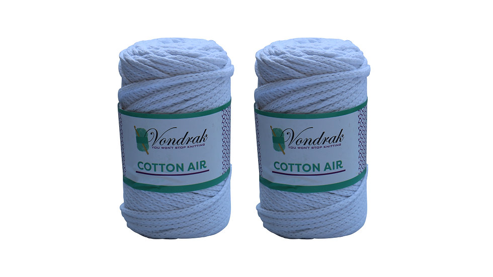 Cotton Air WHITE (2 Skeins)