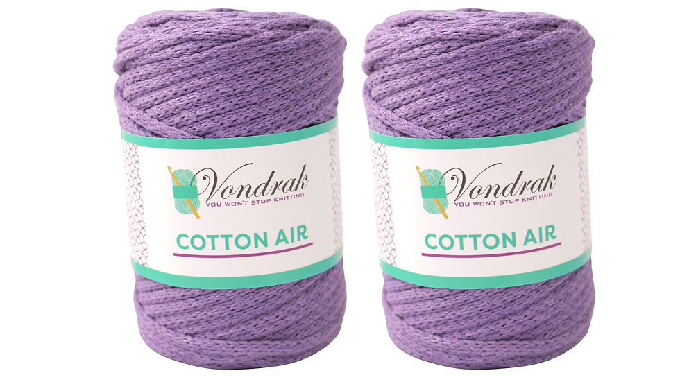 Cotton Air LILAC (2 skeins)