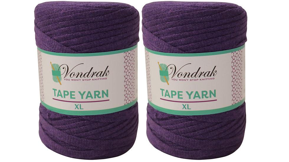 Tape Yarn 328 yards Cotton (2 Rolls) PURPLE