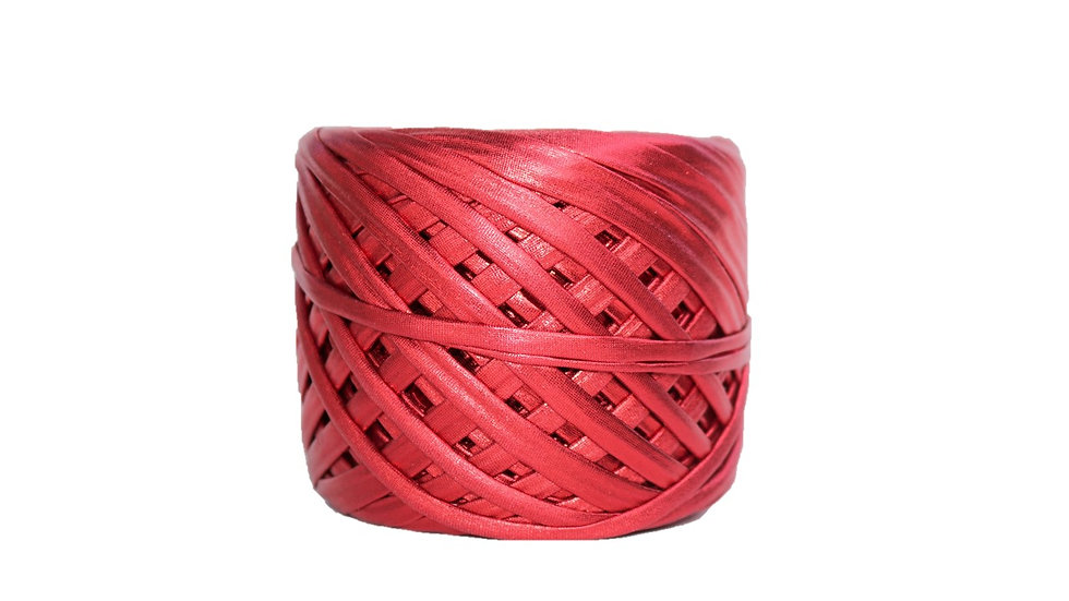 Metallic Yarn 55 yards RED