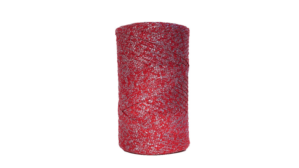 Sparkly Tape Yarn 130 yards Red