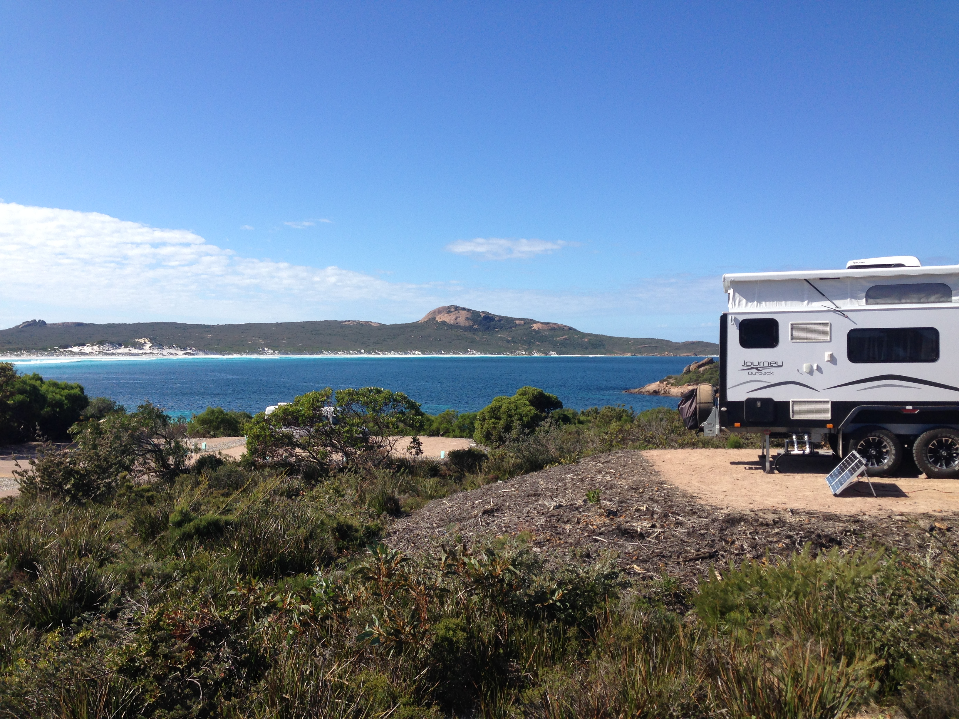 Lucky Bay and the best Camp Site