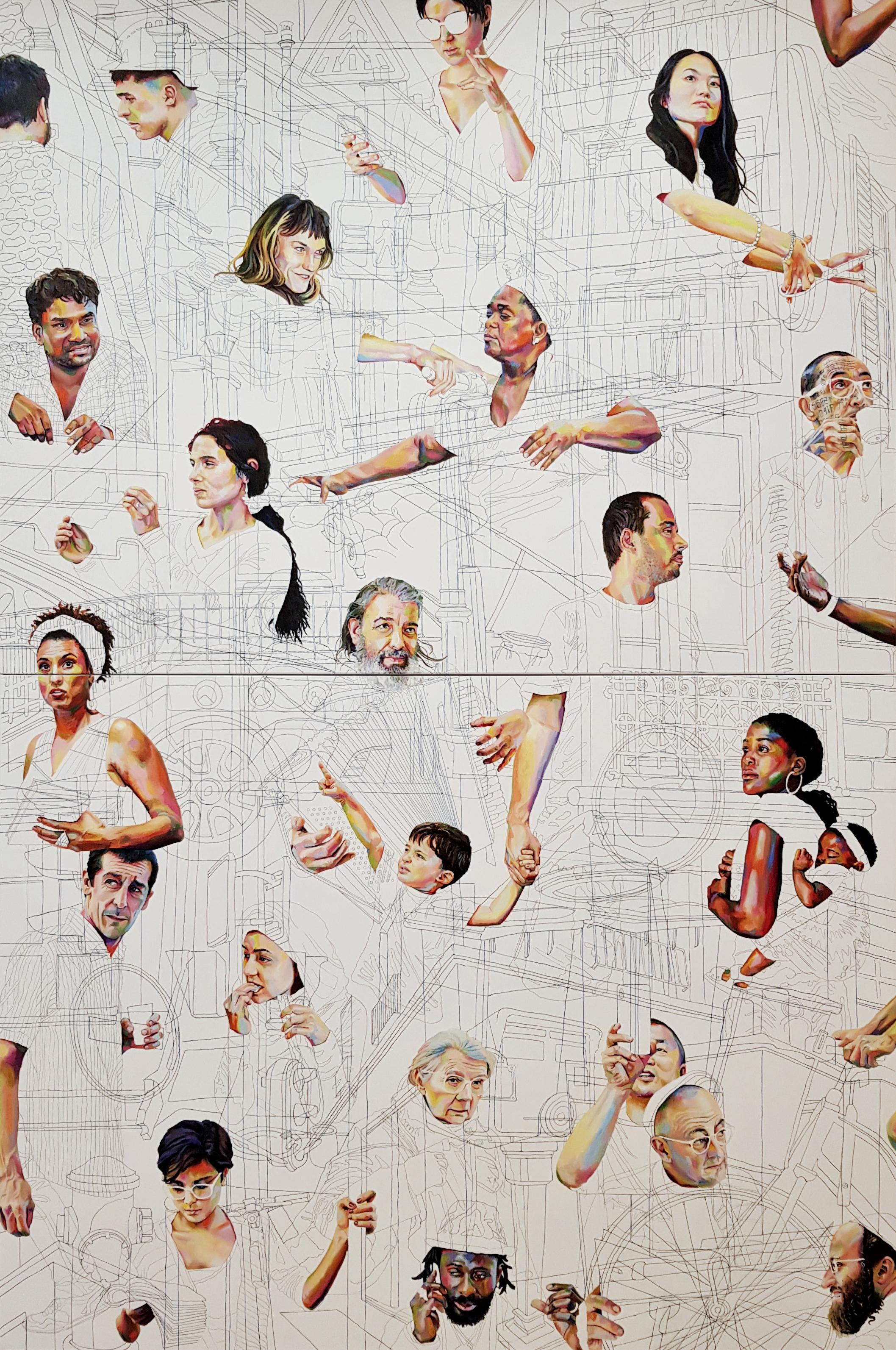 La ville, Eduardo Fonseca, 2020, acrylic