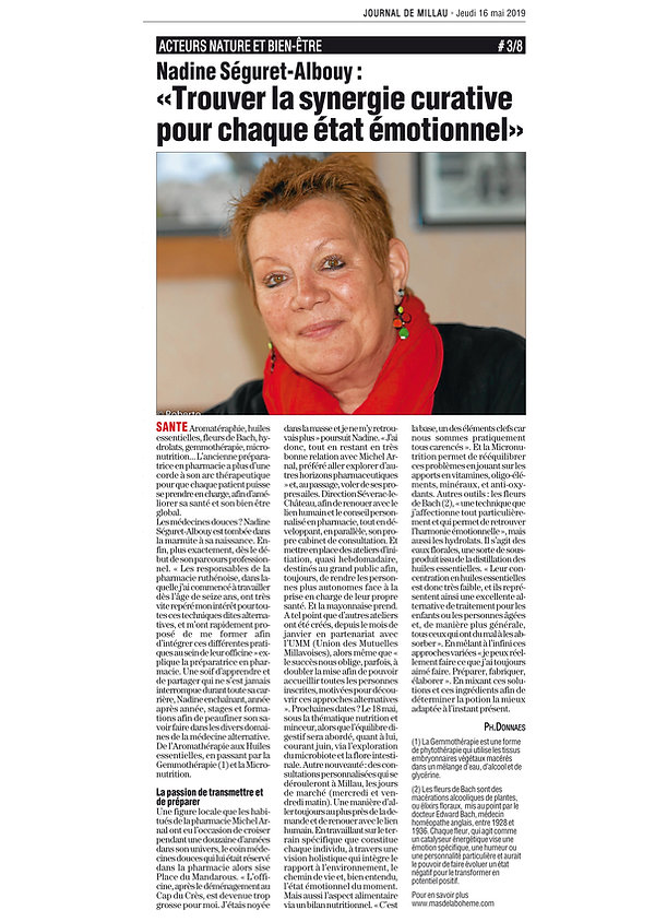 article nadine journal de millau mai 201