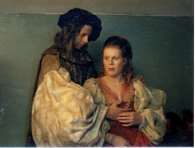 Lizzy as a character in the Rembrandt painting 'The Jewish Bride'