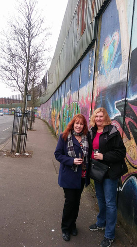 At the Peace Wall, Belfast