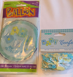 Baby Shower Balloon and confetti