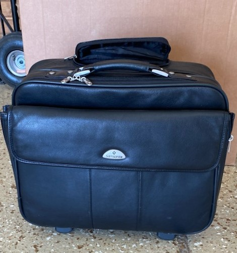 Samsonite Leather Wheeled Bag