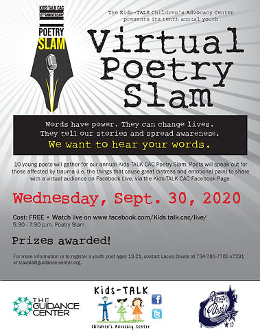 20.09.30 Kids-TALK CAC Poetry Slam Flyer