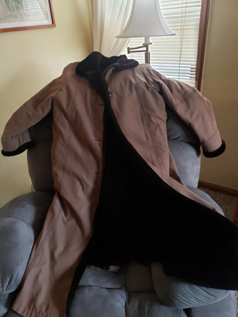 Beige Women's Coat - Size 1X
