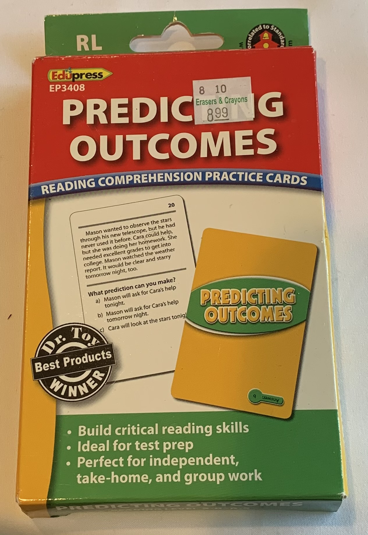 Reading Comprehension Cards -Predicting Outcomes