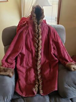 Mauve Women's Coat 3/4 Length Size 1X