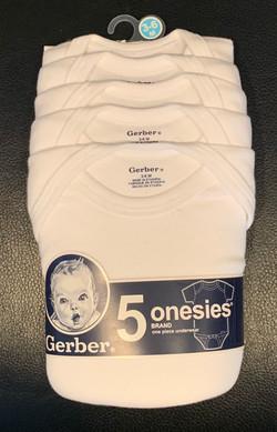 5-Pk Onesies 3-6 Months