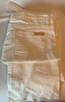 Women's Boot Cut Jeans, Off White - Size 16/32