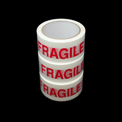Fragile Red and White Packaging Tape