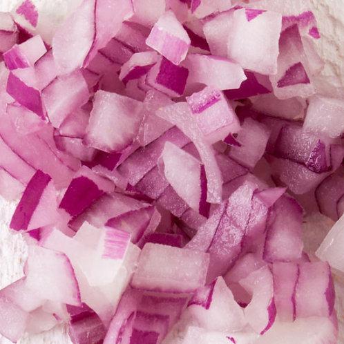 Fresh Prep Onion Red Diced 10mm 2.5kg
