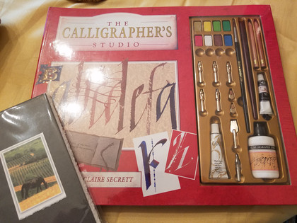 Item #10 - Calligraphy Set and Tablet