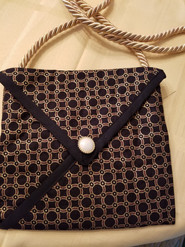 Item #2 - Black and Paisley evening purse