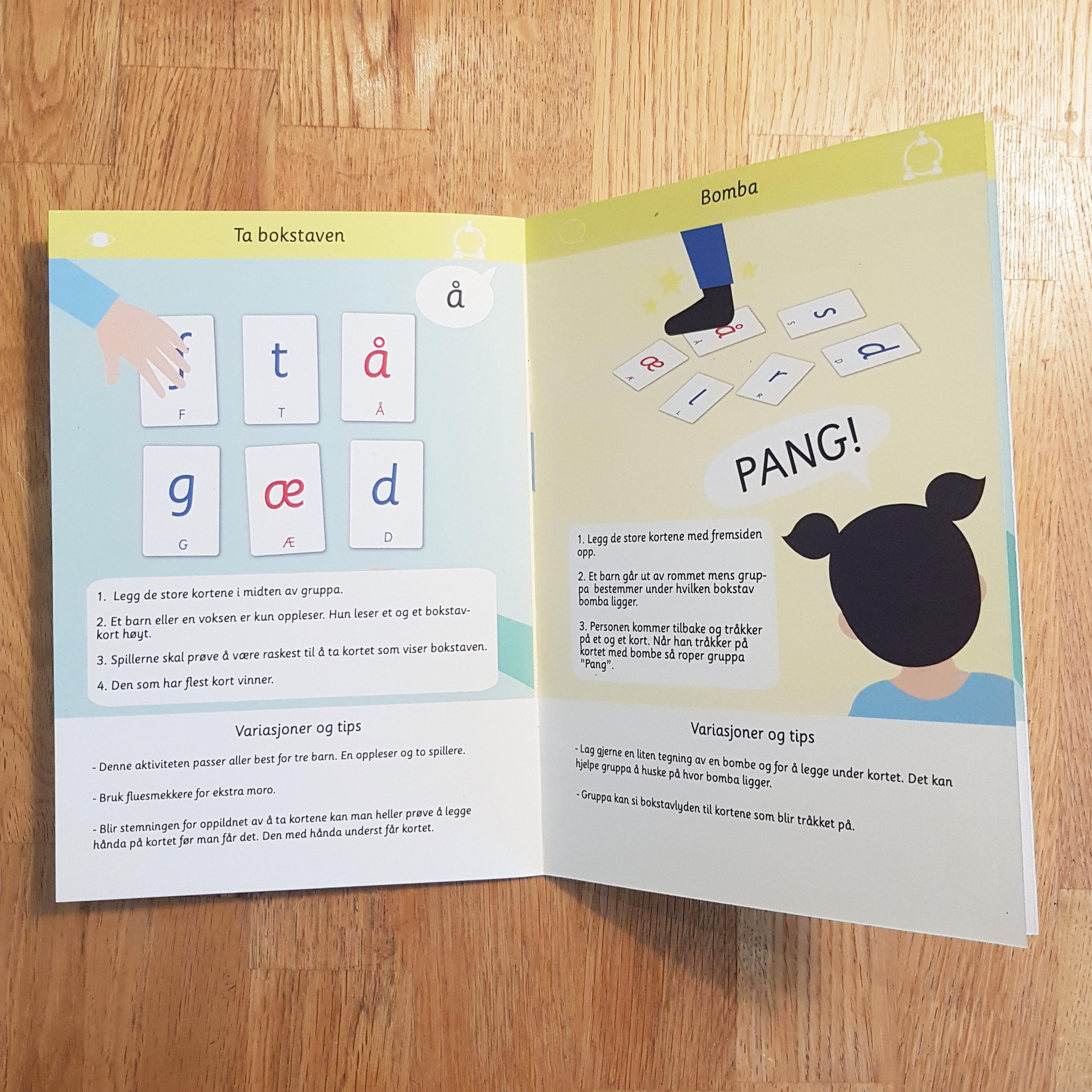 964270be Barna øver på å koble stor og liten bokstav. Bokstavkortene kan også brukes  som et flyttbart alfabet og forme ...