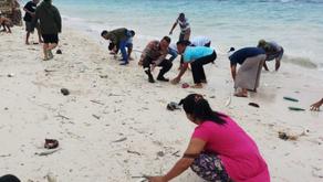 Ikan Berbagai Jenis Terdampar di Pantai Maluku Tengah