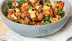 Gegrillter Kürbis, Tofu, Bulgur-Salat.pn