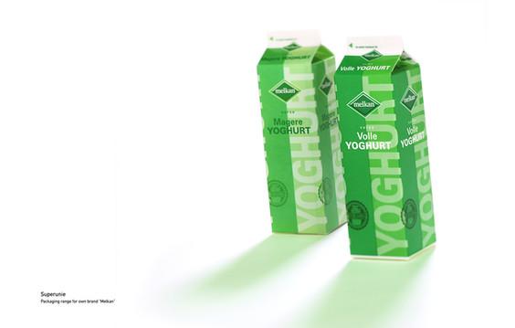 Packaging design Melkan yogurt