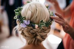 Bridesmaid hair and make up Leics