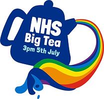 NHSCT Big Tea_Logo Lockup_Rainbow Blue D