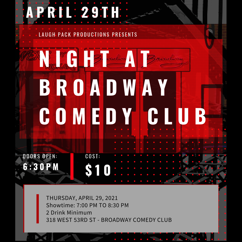 Night at Broadway Comedy Club