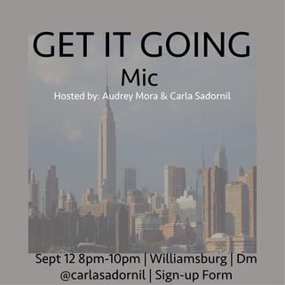 Invitation firts open mic