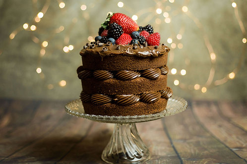 "6"" Brigadeiro Naked Cake Chocolate Filling"