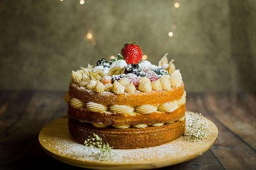 "9"" Brigadeiro Naked Cake - Vanilla Filling"