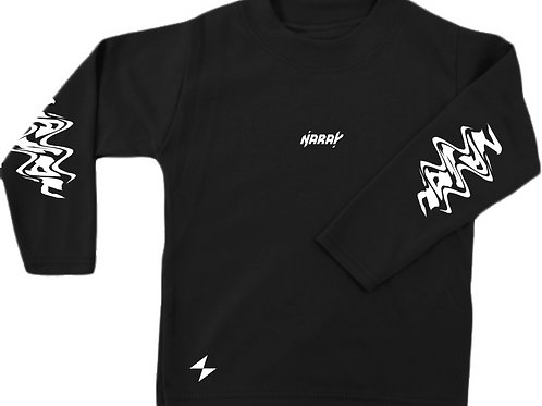 Black Distort Long Sleeve