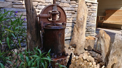 Sausage press water feature