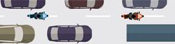 Deux roues en interfiles