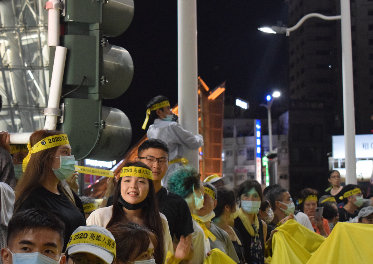 Rally on the eve of Han Guo-yu's recall vote. Kaohsiung, Taiwan, 5th June 2020. 臺灣,高雄,2020年6月5日