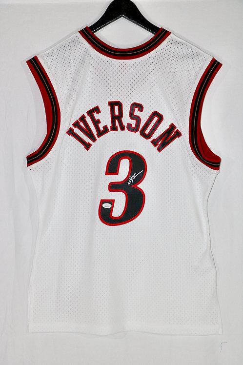 Allen Iverson Autographed Philadelphia 76ers M&N Swingman Jersey
